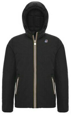 AU433.67 • Buy Jacket K-WAY Jacques Thermo Wax Double Reversible Down Man's Black K00A4J0