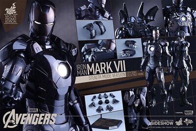 $ CDN547.82 • Buy NEW EXCLUSIVE Hot Toys 1/6 IRON MAN 3 Mark 7 MK VII Stealth Mode Ver. MMS282