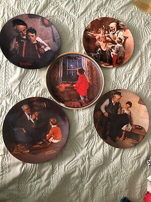 $ CDN32.44 • Buy Lot Norman Rockwell Collector Plates - Knowles Collection, 5 Unites, Used