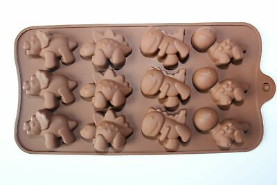 £2.56 • Buy 12 Dinosaurs Silicone Mould Chocolate Fondant Jelly Ice Cube Mold