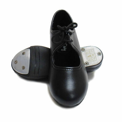 £17.99 • Buy Black Tap Shoes Low Heel With Heel & Toe Taps Attached By Dancing Daisy