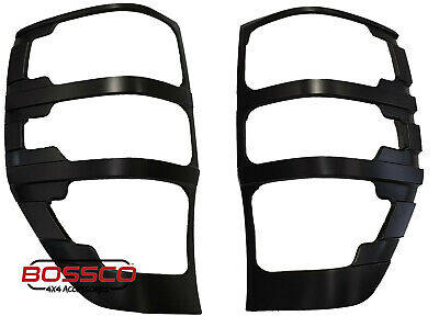 AU34.50 • Buy Black Rear Tail Light Trim Covers Suitable For Ford Ranger PX MK1 MKI 2012-2020