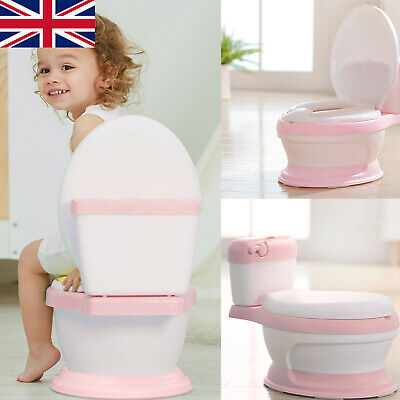 Portable Baby Kids Toilet Seat Child Toddler Training Potty Trainer Safety Chair • 19.99£