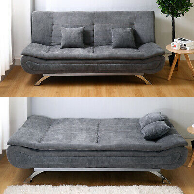 £299.95 • Buy Upholstered Sofa Bed Sleeper Recliner Chair Beds 3 Seater Couch Settee Sofabed