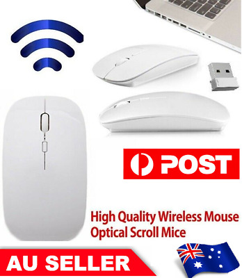 AU8.89 • Buy Ultra Slim Wireless Mouse 2.4 GHz Nano USB Receiver Cordless For Laptop PC Table
