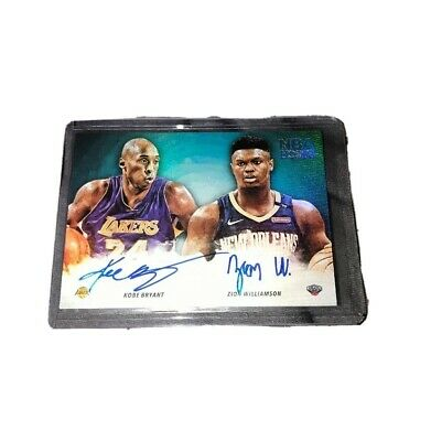 $75000 • Buy Kobe Bryant Zion Williamson Autographed Dual On Card Panini 2019-2020 Hoops