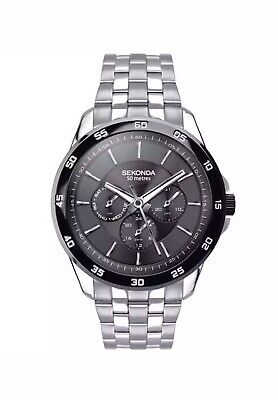 Sekonda Men's Multi Dial Quartz Stainless Steel Strap Watch 1392 New With Box • 34.99£