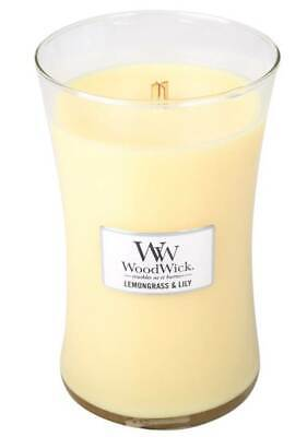 $23.84 • Buy LEMONGRASS LILY - WoodWick 22oz Large Jar Candle Burns 180 Hours
