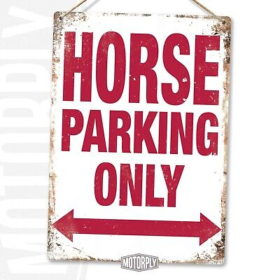 Metal Wall Sign - Horse Parking Only - Barn Farm Saddle Stable Funny Gift  • 8.89£