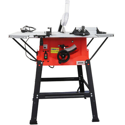 £127 • Buy Excel 1800W 10  250mm Bench Table Saw With Legstand Side Extensions & Blade 240v