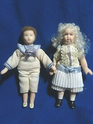 $ CDN75.76 • Buy Exquisite! Victorian Porcelain Girl And Boy For Dollhouse 3.5