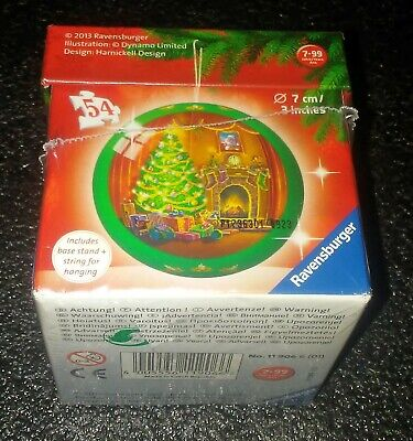 "$12.99 • Buy Ravensburger - 54 Piece 3D Christmas Puzzle Ball 3"" (7cm) - Xmas Tree Fireplace"