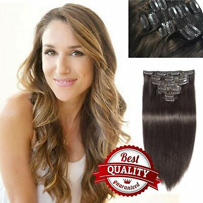 $16.99 • Buy Clip In 18 Clip 8piece Pretty Human Hair Extensions Keratin Fashion Unprocessed