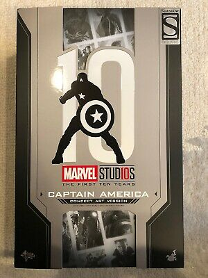 $275 • Buy Hot Toys 1/6th MMS488 Captain America Concept Art Sideshow Exclusive