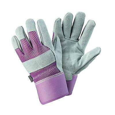 Womens/Ladies Rigger Gardening Gloves Durable Leather Breathable Material Small • 8.99£