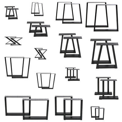 £59.95 • Buy 2x Industrial Steel Table Legs Stand Feet Trapezium X A Sandglass Shape Frame UK