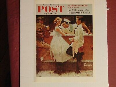 $ CDN10.14 • Buy Saturday Evening Post May 25 1957  (REPRINT) Norman Rockwell (COVER ONLY)