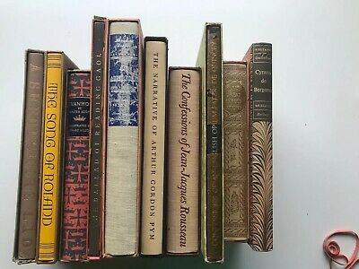 $94.99 • Buy Lot Of 10 Vintage Classic Books  THE HERITAGE CLUB  Press #S0106