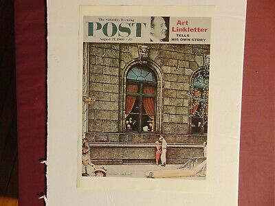 $ CDN8.80 • Buy Saturday Evening Post Aug 27 1960  (REPRINT) Norman Rockwell (COVER ONLY)