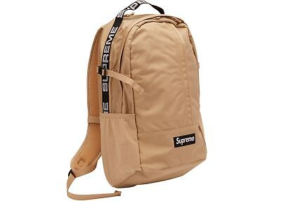 $ CDN512.63 • Buy Supreme Backpack Tan SS18 Black Summer 100% Authentic SS19 SS20 Bag
