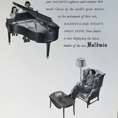 $9.99 • Buy 1947 Baldwin Acrosonic Acrosonic HAMILTON  & HOWARD Piano Ad - THE MAGIC SPELL