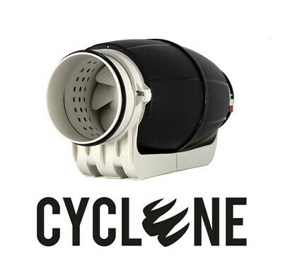 Cyclone Acoustic Inline Extractor Fan Silent Hydroponic Grow Room 4  6  8  • 138£