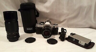 $ CDN99 • Buy Canon AE-1 35 Mm SLR Film Camera W FD 50 Mm 1:1.8 & 1:4.5 70-150 Zoom Lenses ...