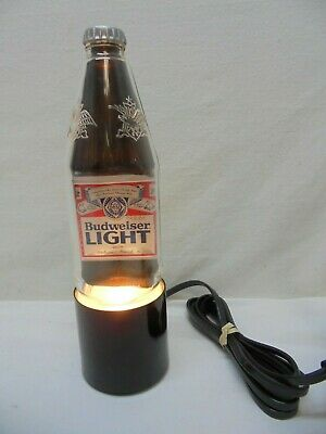 $ CDN79.08 • Buy Rare Vintage Budweiser Light 10  Tall Beer Bottle Bar Bottle Sign, New Open Box