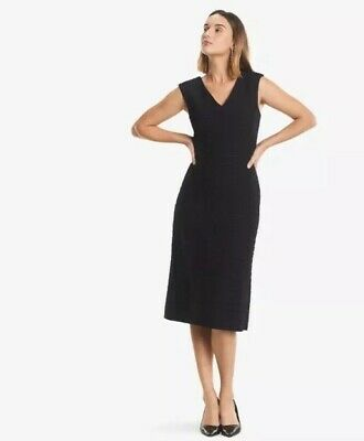 $ CDN208.07 • Buy MM Lafleur The Evelyn Dress Glyph Jacquard $265 Black Size 6 Workwear Office