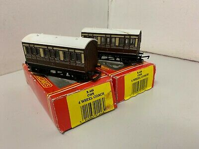 Hornby R446 OO Gauge X2 GWR Small Coaches - Boxed • 0.99£