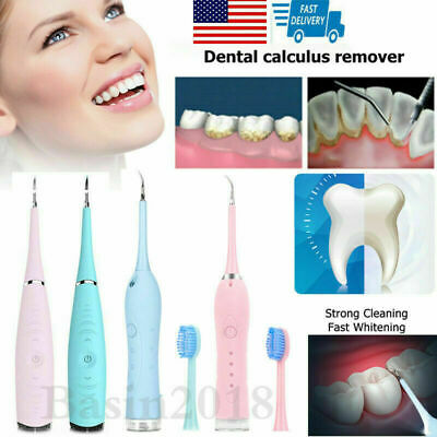 $13.59 • Buy Teeth Whitening Dental Cleaner Ultrasonic Tooth Stain Calculus Eraser Remover US