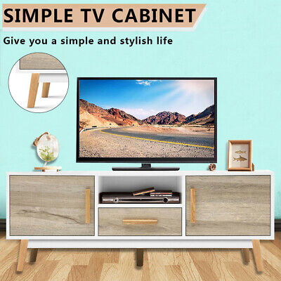 AU128.99 • Buy TV Stand Cabinet Entertainment Unit Shelf Storage Drawer Simple Style Furniture