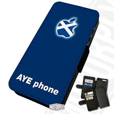 Printed Faux Leather Flip Phone Case For IPhone - Eye Phone - Scottish Scotland  • 9.75£