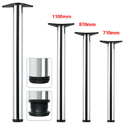 £22.59 • Buy 2/4Pcs Chrome Adjustable Breakfast Bar Table Legs Desk Kitchen 710/870/1100mm UK