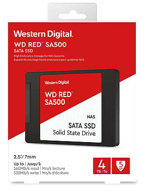 AU1198.95 • Buy WD 4TB SSD RED NAS 2.5  SATA III Internal Solid State Drive SA500 6GB/s 560MB/s