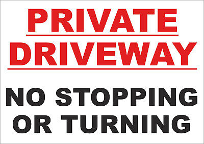 Private Driveway No Stopping Or Turning Sign - A5, All Materials - No Parking • 3.29£