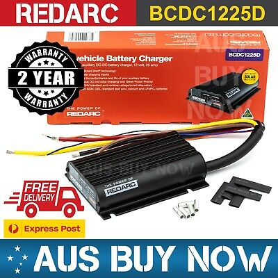 AU473 • Buy FAST EXPRESS REDARC 25A 12V DC Dual Battery Vehicle Charger BCDC1225D Charging