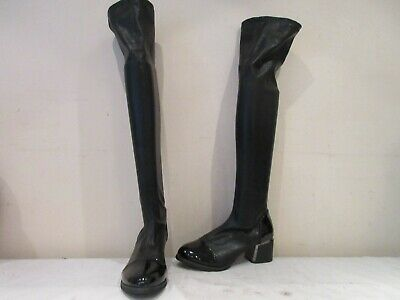 Unbranded Black Stretch Over Knee Pull On Boots Uk 5 Eu 38 (3499) • 15£