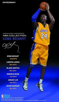 $2499.95 • Buy Officially Licensed NBA Real Masterpiece Kobe Bryant 13 Inch Action Figure