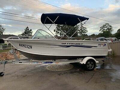 AU35890 • Buy 2015 Quintrex 510 Fishabout & 100 Hp Yamaha 4 Stroke 38 Hrs