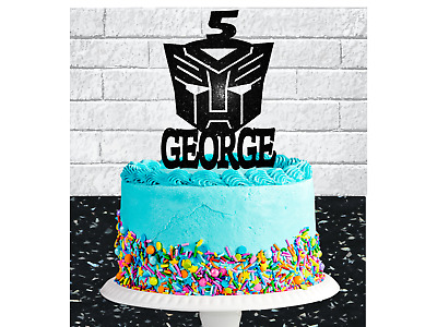 Personalised Transformers Autobots  Any Name/age Birthday Cake Topper • 6.50£