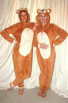 Womens,Mens 1Onesie1, Bear Jumpsuit, All In One Pyjama Suit/fancy Dress/unisex • 12.99£