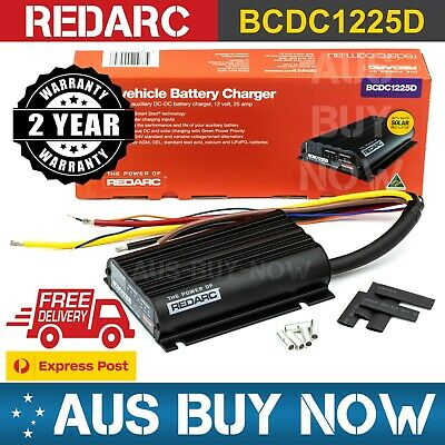 AU473 • Buy REDARC BCDC1225D DC To DC Dual Battery Vehicle Charger 12V 25A 3 Stage 24V SOLAR