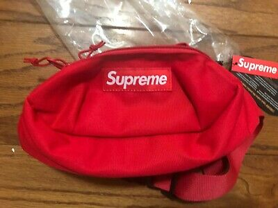 $ CDN138.21 • Buy Supreme SS18 Red Waist Bag Fanny Pack Cordura New With Tags