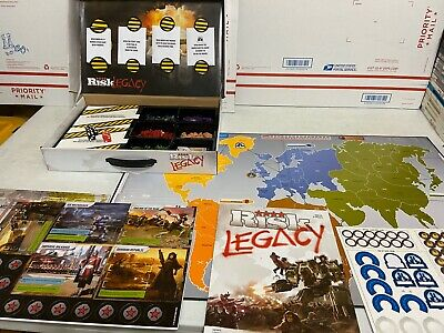 $34.99 • Buy Risk Legacy Game Complete, One Envelope Opened Board Game Hasbro, Some Writing