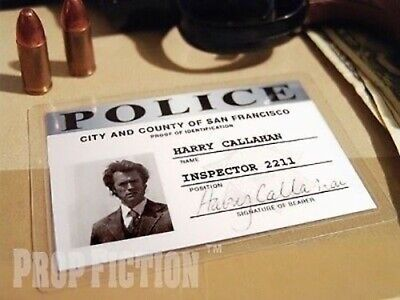 Dirty Harry - Harry Callahan Prop / Cosplay Police Detective Wallet ID Card • 4.65£