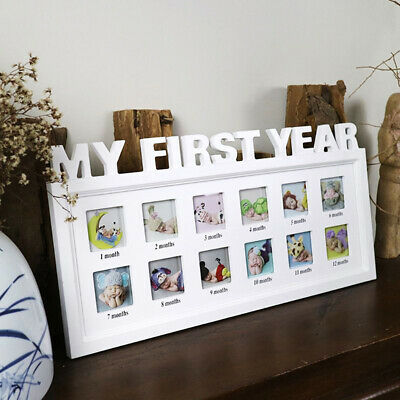 £14.20 • Buy Infants Baby First Year 12 Month Picture Photo Frame Growing Souvenir Home Decor