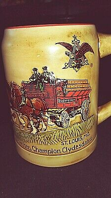 $ CDN77.09 • Buy  1980 Budweiser Champion Clydesdales 1st Holiday Beer Stein Mug CS19 Brazil