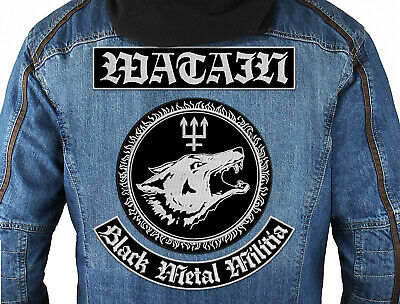 $45 • Buy WATAIN (Black Metal Militia) SET Of 3 Embroidered Back Patches. Black Metal.