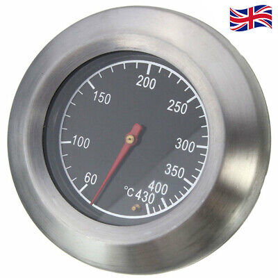 Stainless Steel Temperature Thermometer Gauge Barbecue Grill Thermostat Tool UK • 6.99£